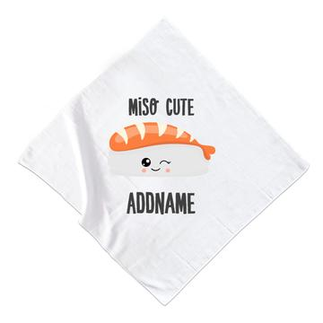 Copy of Miso Cute Salmon Sushi Muslin Square