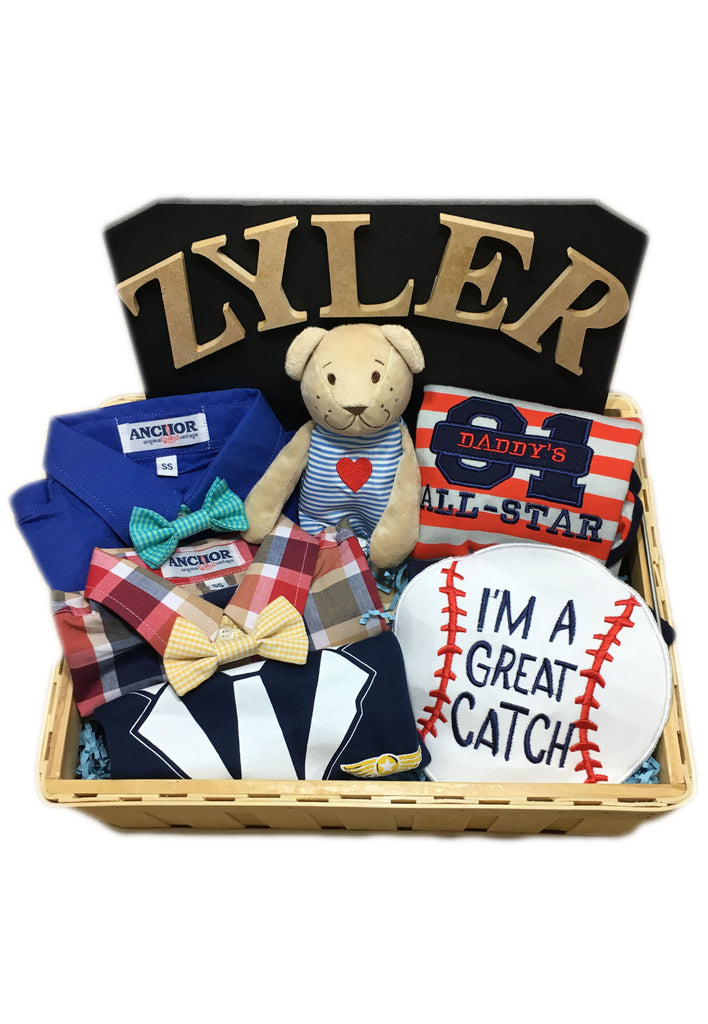 Personalized Baby Boy Hamper