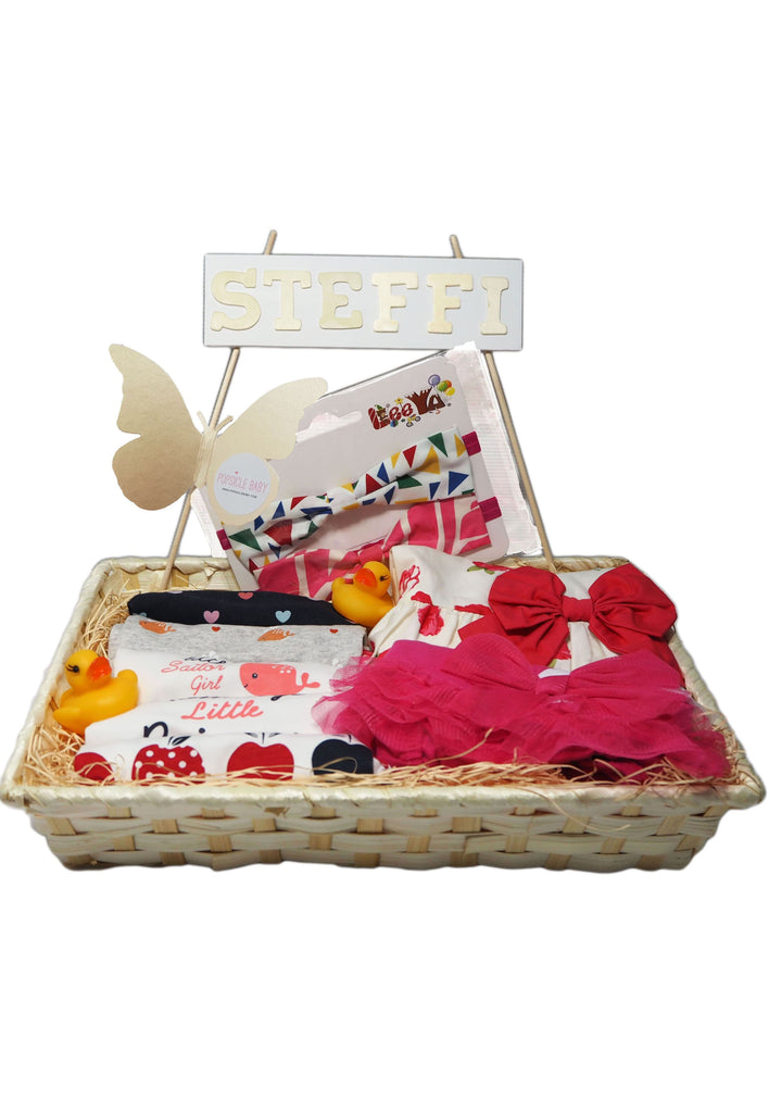 Personalized Baby Girl Hamper