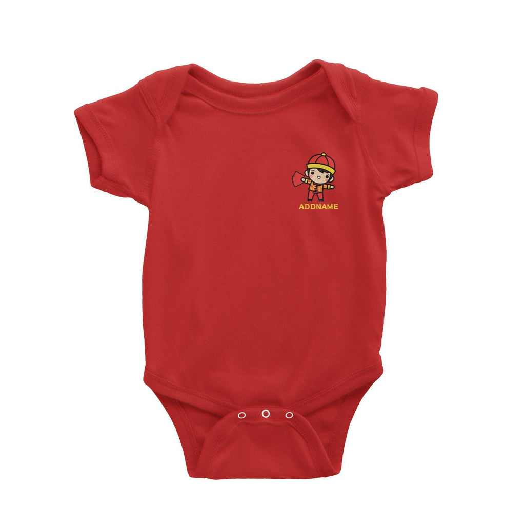 Prosperity CNY Boy with Red Packet Pocket Design Customizable Romper