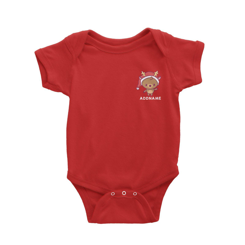 Pocket Jolly Reindeer Customizable Romper