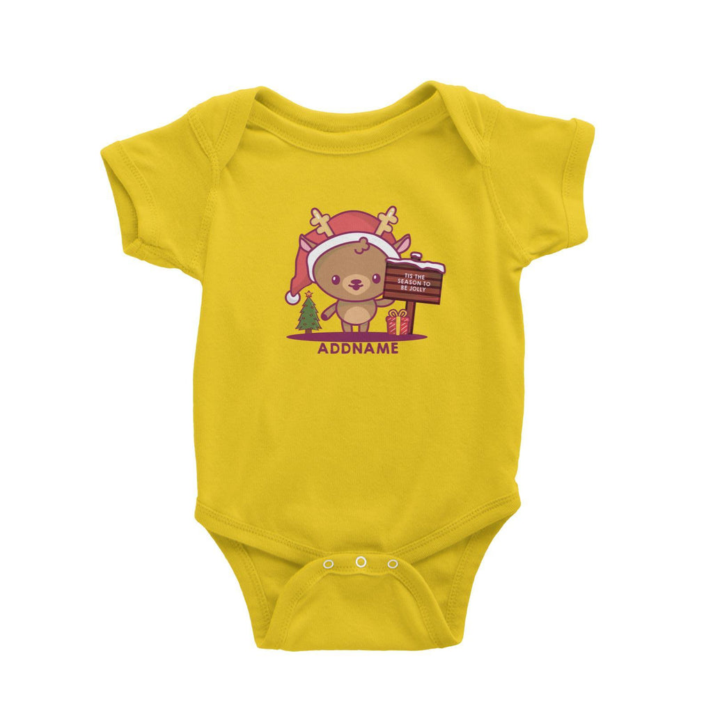 Jolly Reindeer Customizable Romper