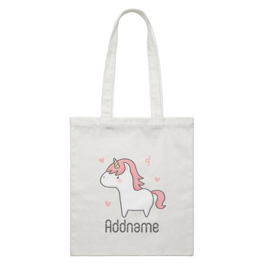 Cute Hand Drawn Unicorn Canvas Bag