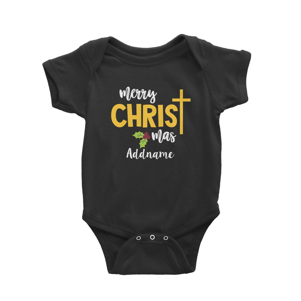 Merry Christmas with Cross Customizable Romper