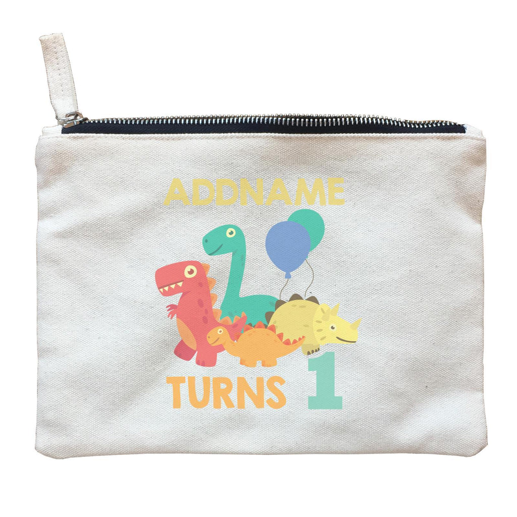 Dinosaur Birthday Theme Zipper Pouch