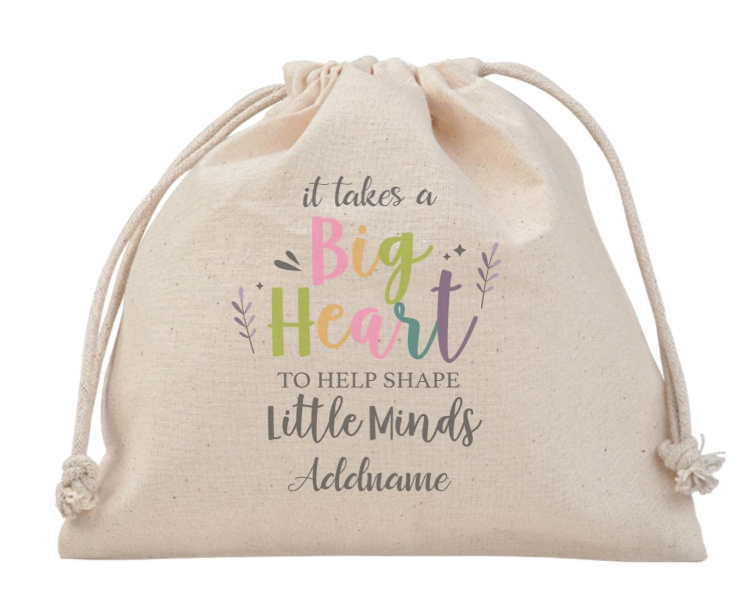 It takes a big heart to shape little minds Customizable Satchel