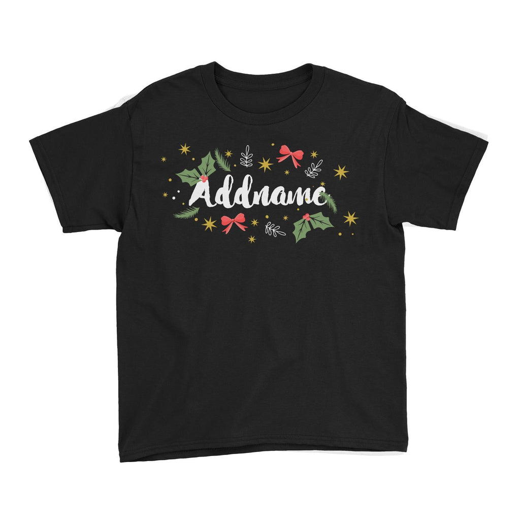 Holly Leaves Customizable Tee