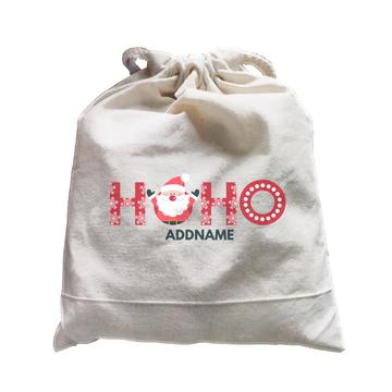 Christmas Hoho Customizable Drawstring Satchel