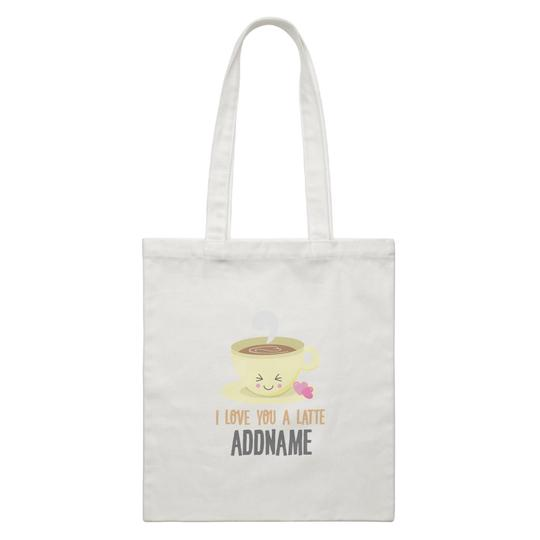 I Love you a Latte Canvas Bag