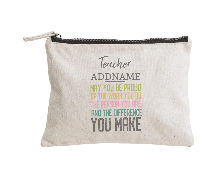 The difference you make Customizable Zipper Pouch