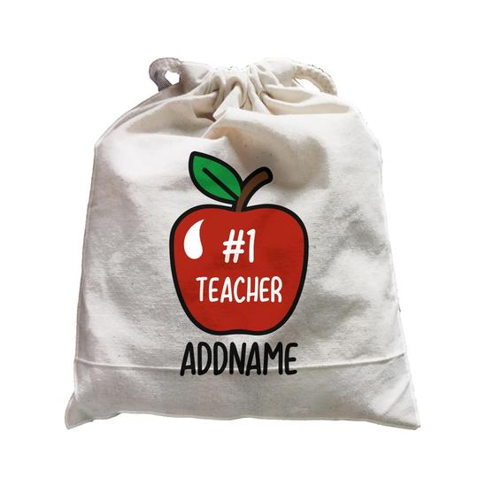 #1 Teacher Apple Customizable Satchel