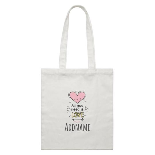 All you need is Love Canvas Bag