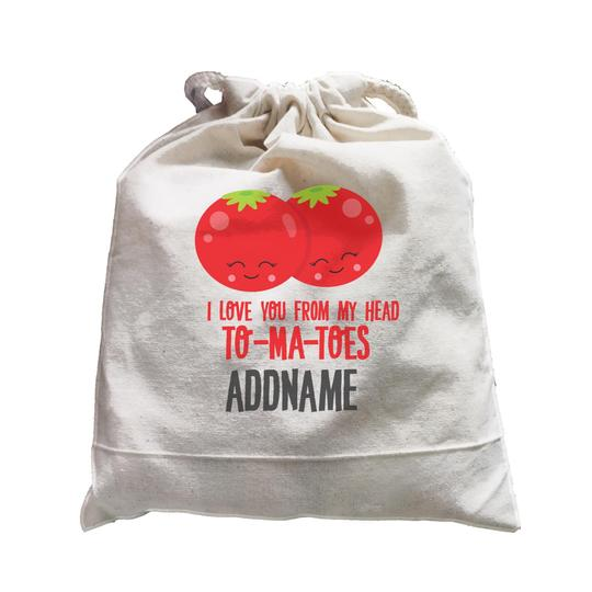 I Love You from my head Tomatoes Satchel