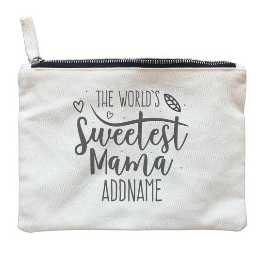 Worlds Sweetest Mama Zipper Pouch