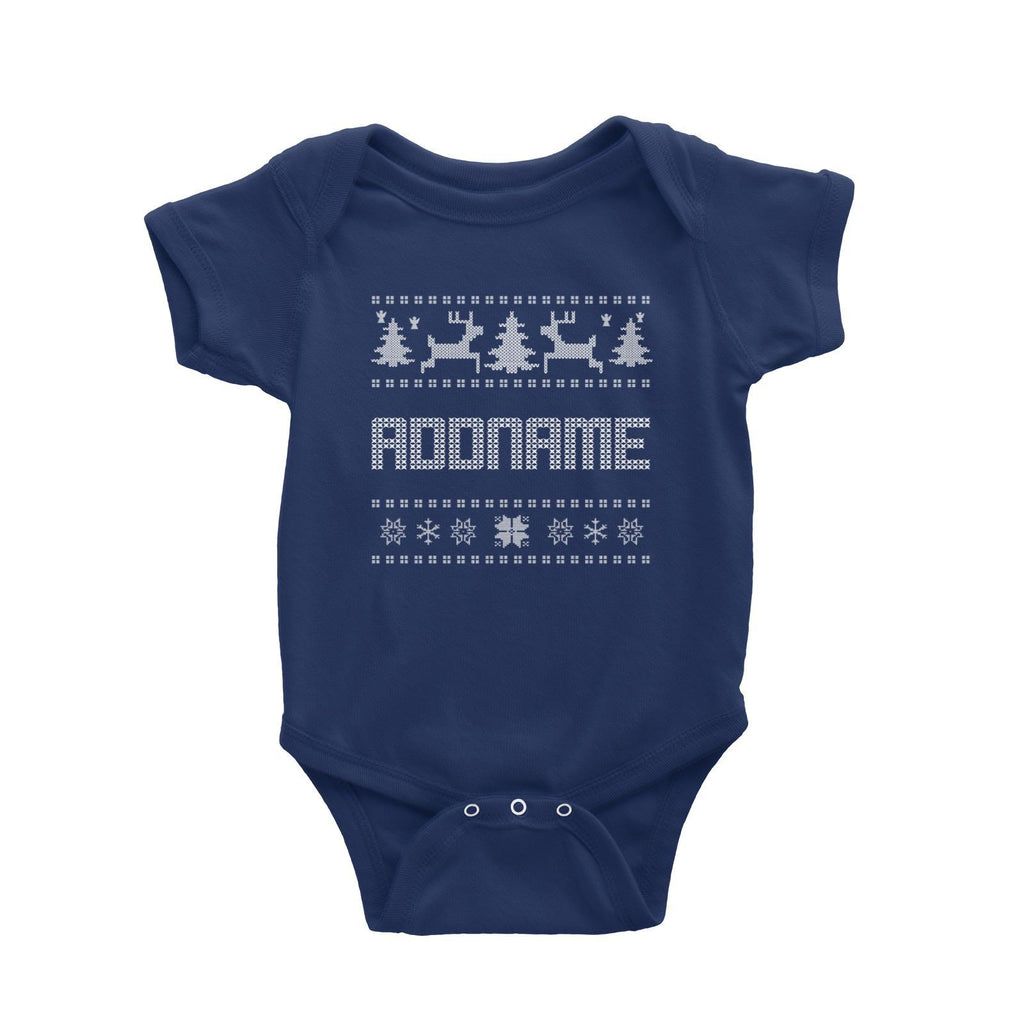 Christmas Sweater Design Customizable Romper