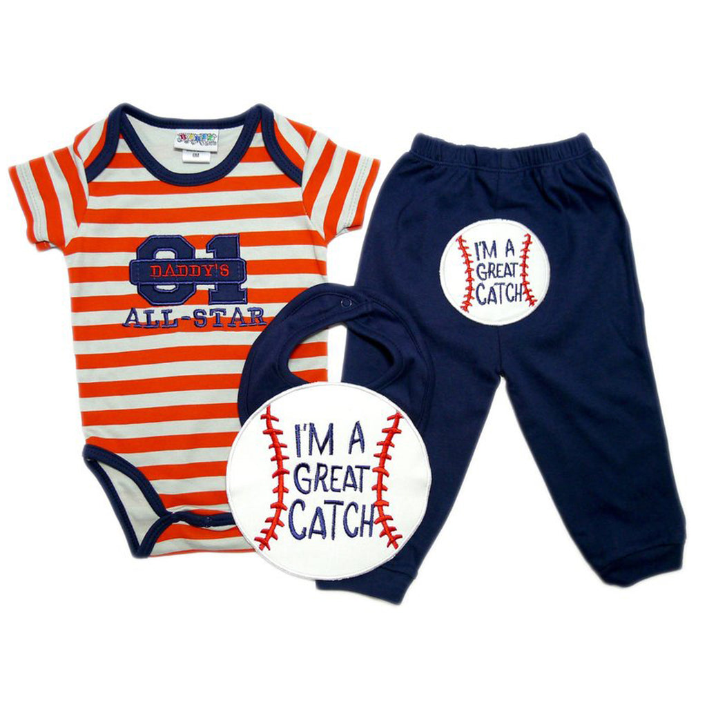 Baseball 3 Piece Set