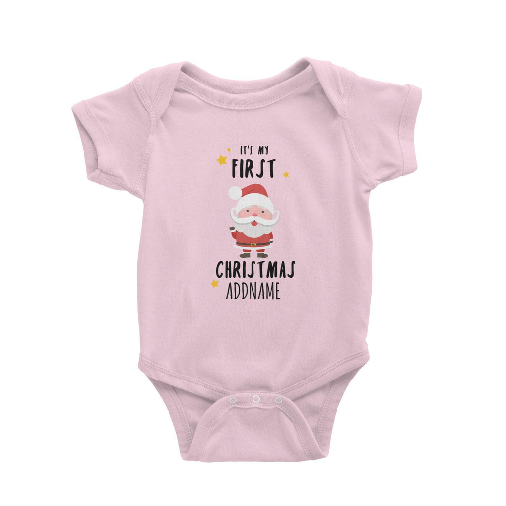 First Christmas Santa Customizable Romper