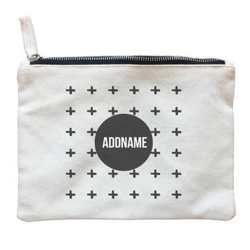 Monochrome Crosses Zipper Pouch