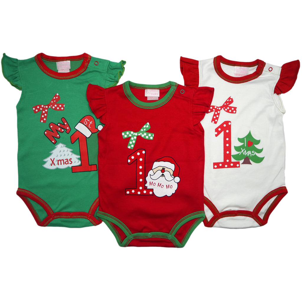My First Christmas - Baby Girl Romper Set