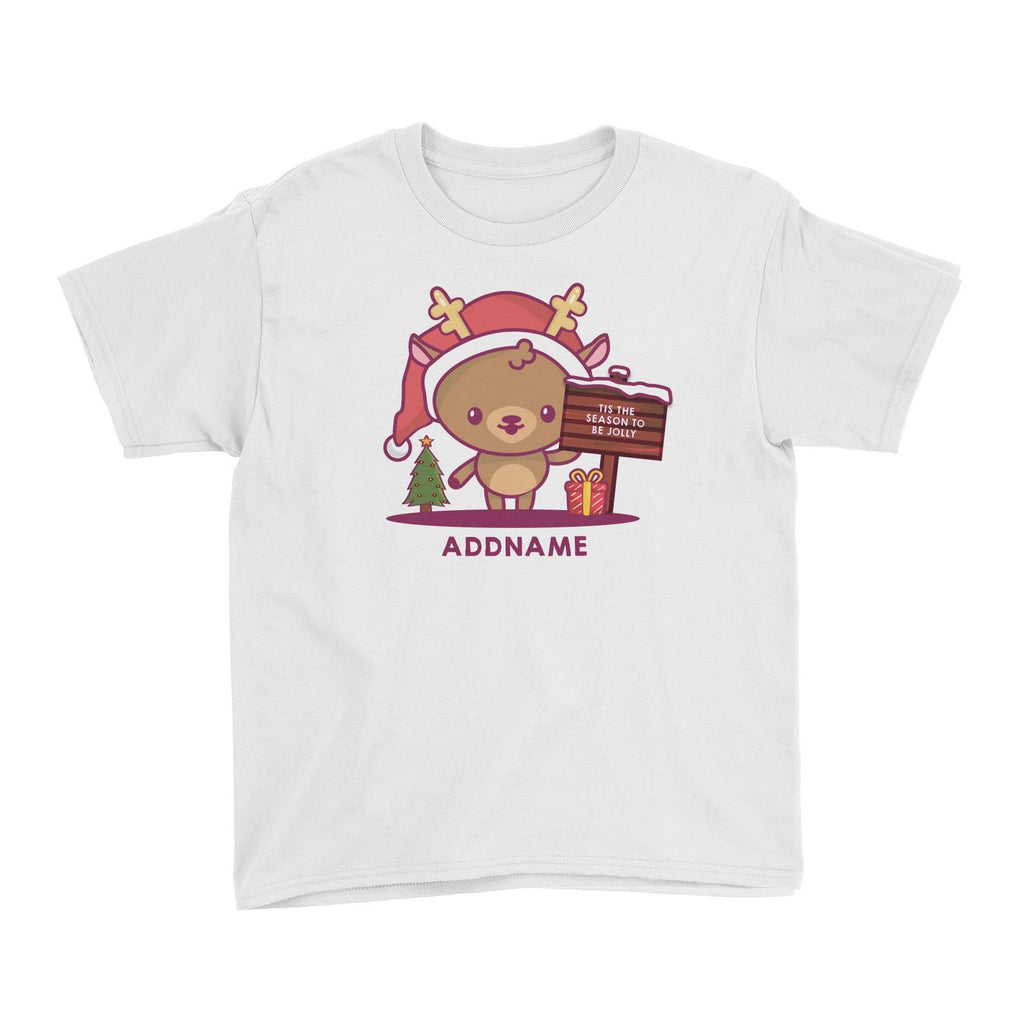 Jolly Reindeer Customizable Tee