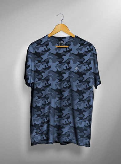 Marine Blue Military Camo T shirt | Men's Active Wear