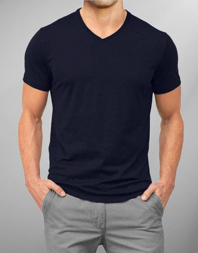 Plain Navyblue | Men's V Neck T Shirt | Premium T-Shirt