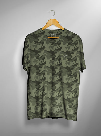 Green Military Camo T shirt | Men's Active Wear