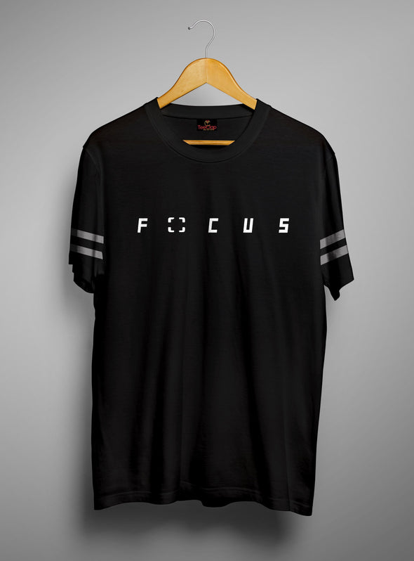 Focus | Men's Cut and Sew | Graphic Printed Premium T-Shirt - TeeClap