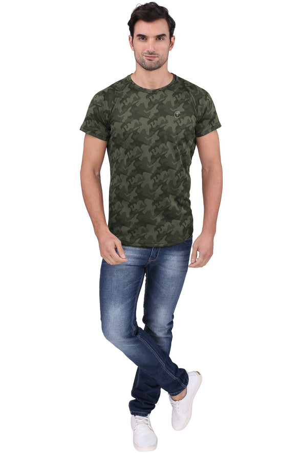 Green Military Camo T shirt | Men's Active Wear - TeeClap