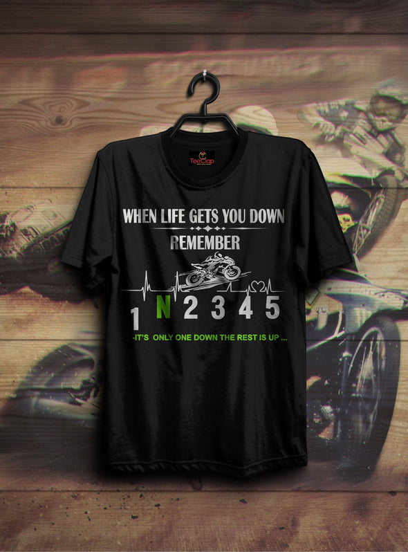 When Life Gets You Down | Men's Round Neck | Graphic Printed Premium T-Shirt - TeeClap