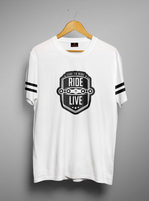 Ride To Live | Men's Round Neck | Graphic Printed Premium T-Shirt - TeeClap