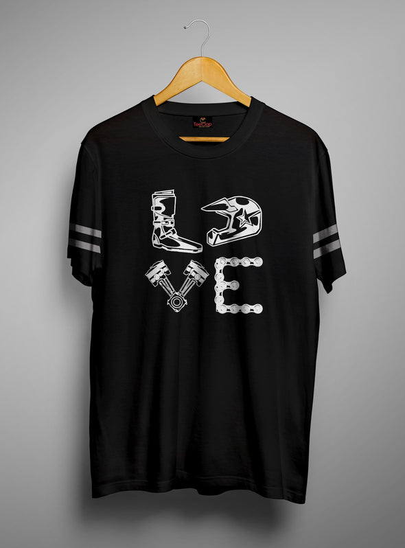 Biker Love | Men's Round Neck | Graphic Printed Premium T-Shirt - TeeClap