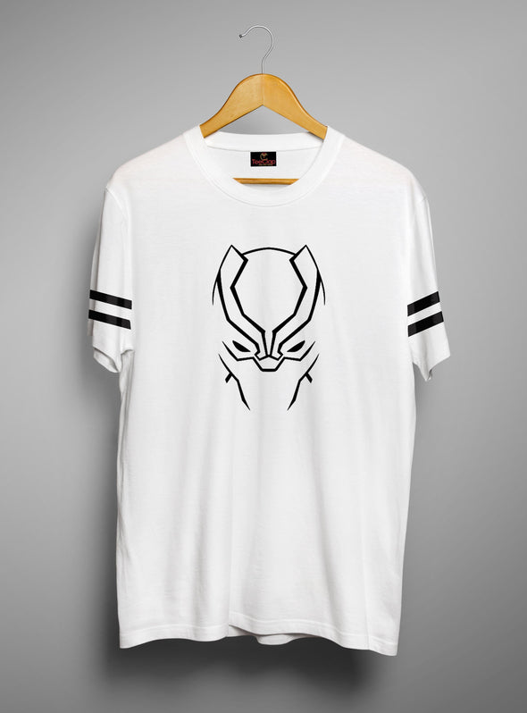 Black Panther Face | Men's Cut And Sew | Graphic Printed Premium T-Shirt - TeeClap