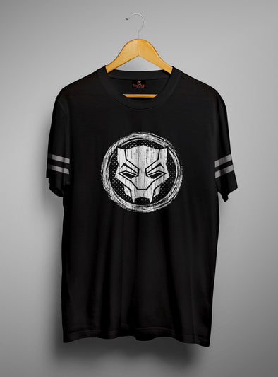 Black Panther Symbol | Men's Round Neck | Graphic Printed Premium T-Shirt - TeeClap
