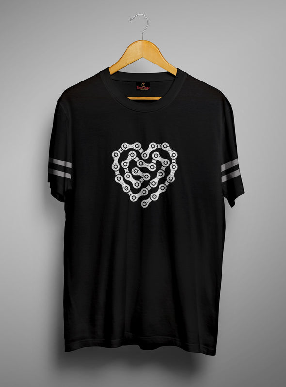 Chain Heart | Men's Round Neck | Graphic Printed Premium T-Shirt - TeeClap