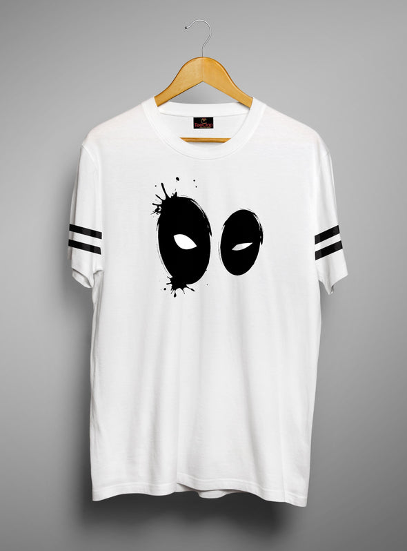 Deadpool Eyes | Men's Cut And Sew | Graphic Printed Premium T-Shirt - TeeClap