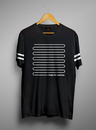 Enjoy The Journey | Men's Cut And Sew | Graphic Printed Premium T-Shirt - TeeClap