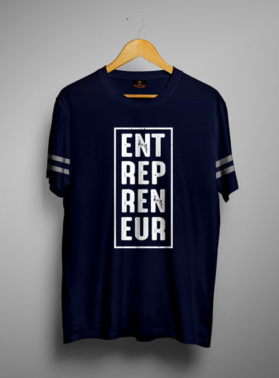 Entrepreneur Box | Men's Cut And Sew | Graphic Printed Premium T-Shirt - TeeClap