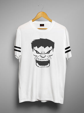 Hulk Face | Men's Round Neck | Graphic Printed Premium T-Shirt - TeeClap