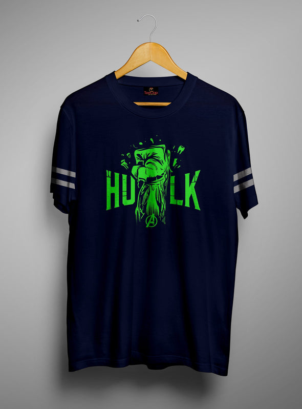Hulk Smash | Men's Cut And Sew | Graphic Printed Premium T-Shirt - TeeClap
