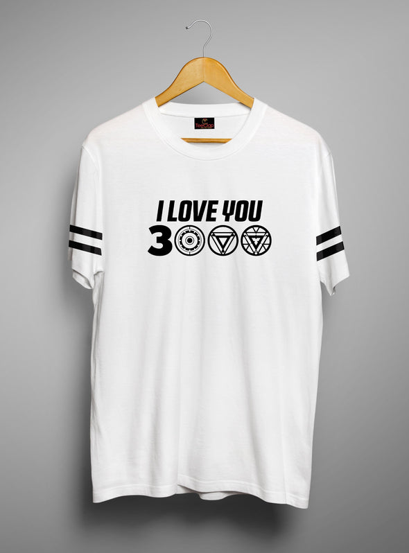 I Love You 3000 | Men's Cut And Sew | Graphic Printed Premium T-Shirt - TeeClap