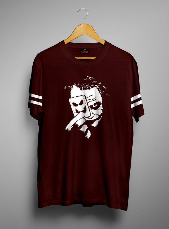 Joker Card | Men's Cut And Sew | Graphic Printed Premium T-Shirt - TeeClap