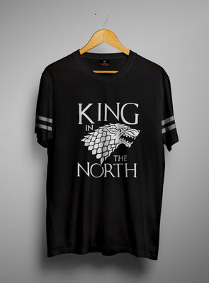 King In The North | Men's Round Neck | Graphic Printed Premium T-Shirt - TeeClap