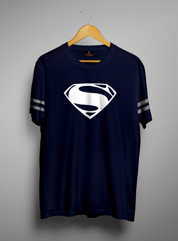Man Of Steel | Men's Cut And Sew | Graphic Printed Premium T-Shirt - TeeClap