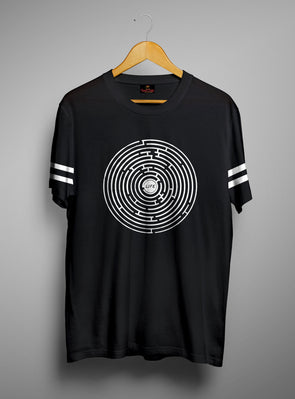 Maze Life | Men's Cut And Sew | Graphic Printed Premium T-Shirt - TeeClap