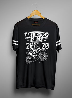 Motocross Rider | Men's Round Neck | Graphic Printed Premium T-Shirt - TeeClap