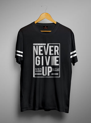 New Spirit Never Give Up | Men's Round Neck | Graphic Printed Premium T-Shirt