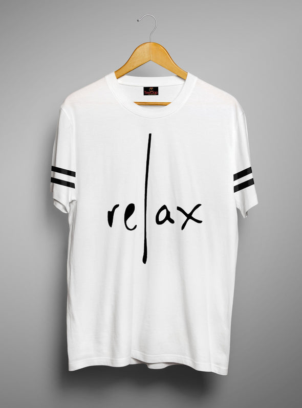 Relax | Men's Cut And Sew | Graphic Printed Premium T-Shirt - TeeClap