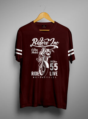 Rider Inc | Men's Round Neck | Graphic Printed Premium T-Shirt - TeeClap