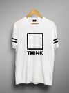 Think Out Of The Box | Men's Cut And Sew | Graphic Printed Premium T-Shirt - TeeClap